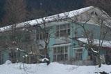 美山 雪化粧の美山高校