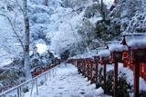 貴船神社 雪化粧の南参道