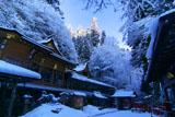 貴船神社 雪化粧の本宮