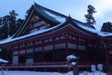 比叡山延暦寺 雪景色の大講堂