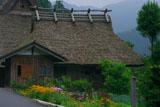 美山かやぶきの里 花畑と美山民俗資料館