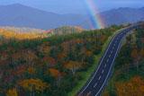 知床峠の虹
