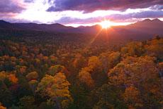 三国峠の朝陽