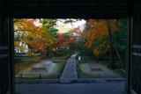 山門からの紅葉の法然院境内