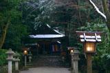 大田神社 淡雪の拝殿