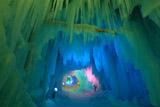 層雲峡氷瀑まつり氷の鍾乳洞