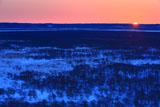 日の出の釧路湿原