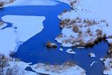 釧路湿原の丹頂鶴の飛翔