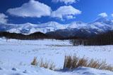 冬晴れの知床連山