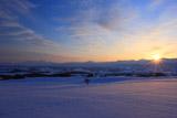 大雪山系から昇る朝陽