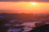 狩勝峠からの十勝平野の朝陽