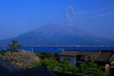 錦江湾と桜島の噴火