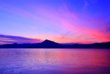 支笏湖の夕焼け小焼け