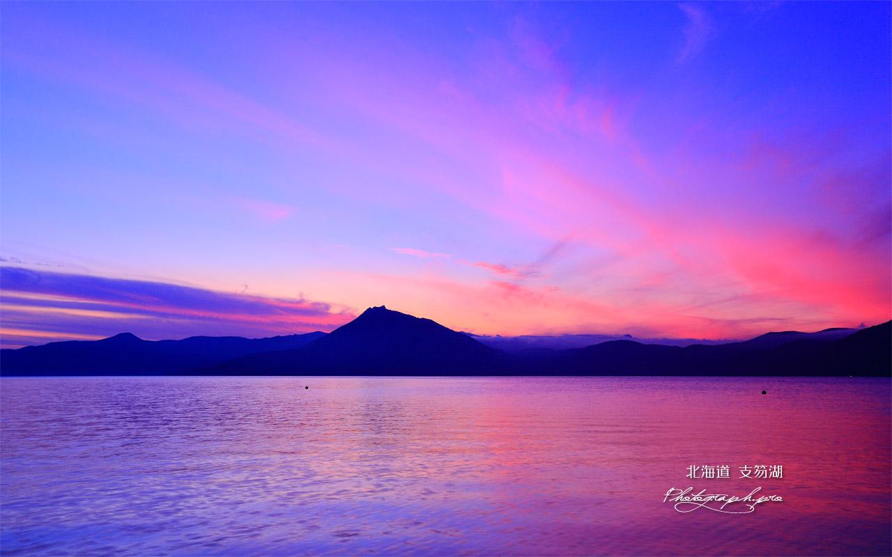 支笏湖の夕焼け小焼け 壁紙