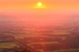 十勝平野の朝陽