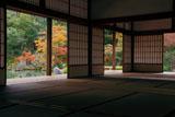 紅葉の天龍寺小方丈