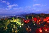 将軍塚庭園と夜景