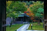 鎌倉長寿寺 薬医門から紅葉の方丈