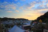 鎌倉大宝寺 夕焼け雲