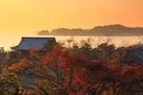 光明寺山門と材木座海岸