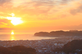 鎌倉 衣張山からの夕景