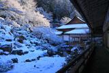 常照皇寺の雪化粧の怡雲庵