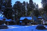 京都山国神社 雪化粧した境内