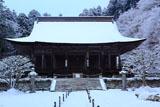勝林院 雪化粧の本堂