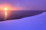 支笏湖の朝陽