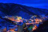 冬の登別温泉街