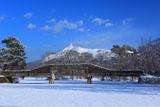 大沼公園金波橋と駒ヶ岳