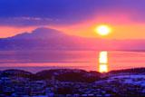 オホーツク海の御来光