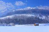 富良野清水山の霧氷と小屋