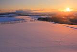 就実の丘の朝陽