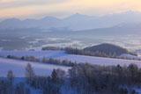 霧氷と十勝岳連峰