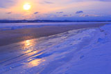サロマ湖龍宮台の夕陽