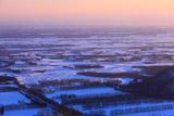 十勝平野の雪原紋様
