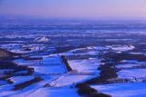 十勝平野の冬の朝