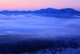 霧の屈斜路湖