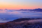雲海の屈斜路湖