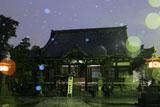 鎌倉本覚寺 雪降る本堂