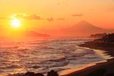 稲村ケ崎からの江ノ島と富士山