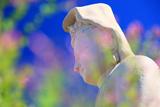 霊山観音 ハギ越しの白衣観音像