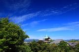 高台寺 祇園閣と秋空