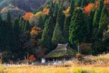 京都久多 中の町の萱葺き民家