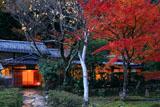 京都花脊 紅葉の美山荘母屋