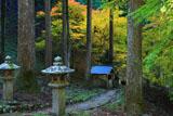 道風神社 和香水舎と紅葉