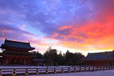 平安神宮 夕焼けの朝堂院