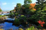 京都正法寺 紅葉の鳥獣の石庭