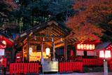 京都野宮神社 紅葉の本殿